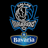 Bavarian Dallas Mavericks NBA Beer Sign Neon Sign