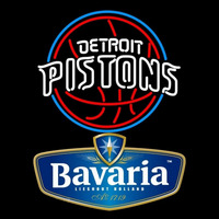 Bavarian Detroit Pistons NBA Beer Sign Neon Sign