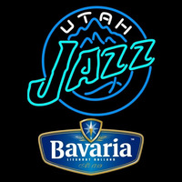 Bavarian Utah Jazz NBA Beer Sign Neon Sign