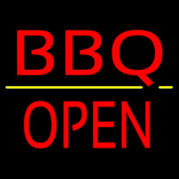 Bbq Block Open Neon Sign