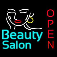 Beauty Salon Open Neon Sign