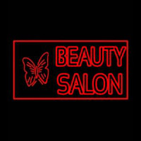 Beauty Salon With Butterfly Log Neon Sign