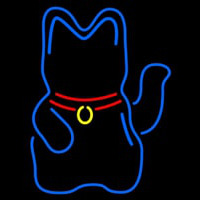 Beckoning Cat Neon Sign