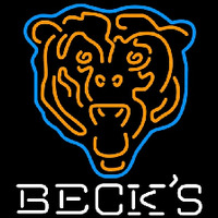 Becks Chicago Bears NFL Neon Sign Neon Sign