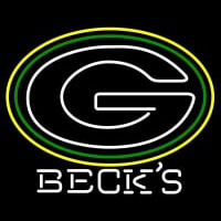 Becks Green Bay Packers NFL Neon Sign Neon Sign