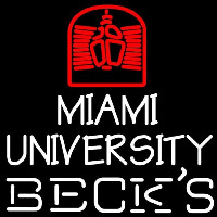 Becks Miami University Beer Sign Neon Sign
