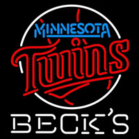 Becks Minnesota Twins MLB Beer Sign Neon Sign