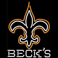 Becks New Orleans Saints NFL Neon Sign Neon Sign