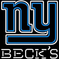 Becks New York Giants NFL Neon Sign Neon Sign