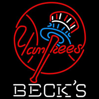 Becks New York Yankees MLB Beer Sign Neon Sign