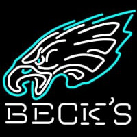 Becks Philadelphia Eagles NFL Neon Sign Neon Sign