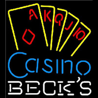 Becks Poker Casino Ace Series Beer Sign Neon Sign