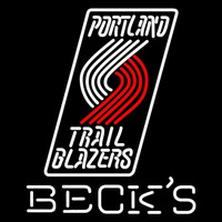 Becks Portland Trail Blazers NBA Beer Sign Neon Sign