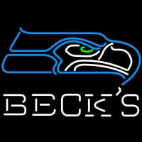 Becks Seattle Seahawks NFL Neon Sign Neon Sign