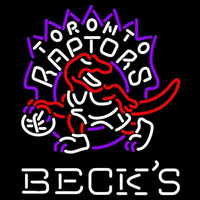 Becks Toronto Raptors NBA Beer Sign Neon Sign