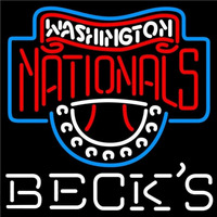 Becks Washington Nationals MLB Beer Sign Neon Sign