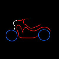 Bike Logo In Red Neon Sign