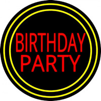Birthday Party 1 Neon Sign
