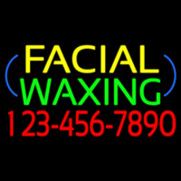 Block Facial Wa ing With Phone Number Neon Sign