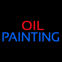 Block Oil Painting Neon Sign