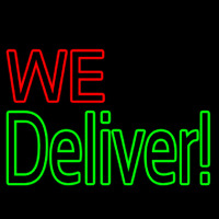 Block We Deliver Neon Sign