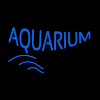 Blue Aquarium Block Neon Sign