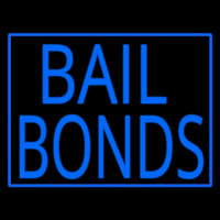 Blue Bail Bonds Neon Sign