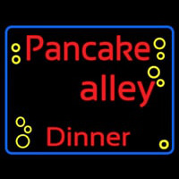 Blue Border Pancake Alley Dinner Neon Sign