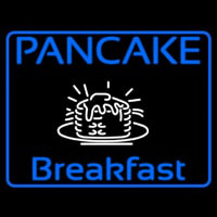 Blue Border Pancake Breakfast Neon Sign