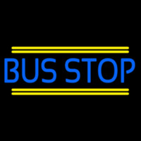Blue Bus Stop Neon Sign