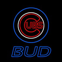 Blue Chicago Cubs Bud MLB Neon Sign Neon Sign