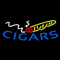 Blue Cigars Logo Neon Sign