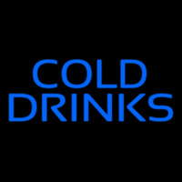Blue Cold Drinks Neon Sign