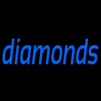 Blue Diamonds Neon Sign