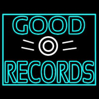 Blue Good Records Border Neon Sign
