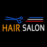 Blue Hair Salon Logo Neon Sign