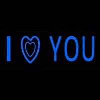 Blue I Love You Neon Sign