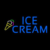 Blue Ice Cream Logo Neon Sign