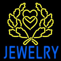 Blue Jewelry Block Logo Neon Sign