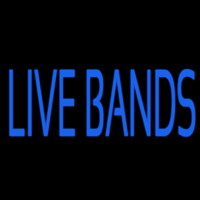 Blue Live Bands Neon Sign