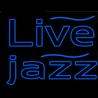 Blue Live Jazz 1 Neon Sign