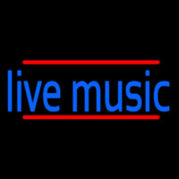 Blue Live Music 1 Neon Sign