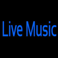Blue Live Music Neon Sign