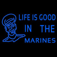 Blue Marine With Logo Neon Sign