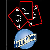 Blue Moon Ace And Poker Beer Sign Neon Sign