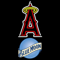 Blue Moon Anaheim Angels MLB Beer Sign Neon Sign