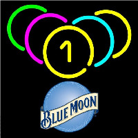 Blue Moon Billiard Rack Pool Beer Sign Neon Sign