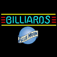 Blue Moon Billiards Te t Borders Pool Beer Sign Neon Sign