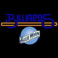 Blue Moon Billiards Te t With Stick Pool Beer Sign Neon Sign
