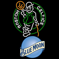 Blue Moon Boston Celtics NBA Beer Sign Neon Sign